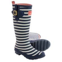 Joules Printed Welly Rain Boots - Waterproof (For Women) in Navy Stripe - Closeouts