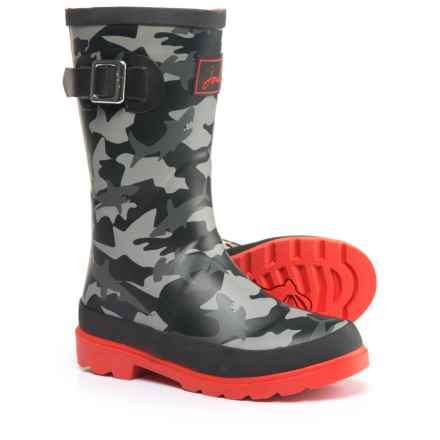 Joules Shark-Camo Rain Boots - Waterproof (For Little and Big Boys) in Camo - Closeouts
