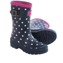 Joules Wellington Rain Boots - Waterproof (For Little and Big Kids) in Navy Spots - 2nds