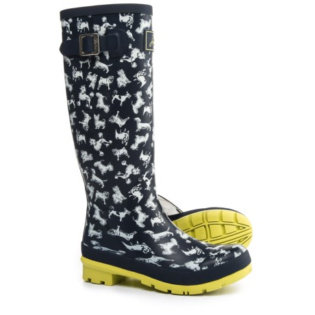 Joules Welly Dogs Print Rain Boots - Waterproof (For Women) in French Navy