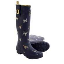 Joules Welly Dogs Print Rain Boots - Waterproof (For Women) in Navy Dogs - 2nds
