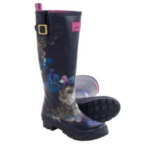 Joules Welly Floral-Print Rain Boots - Waterproof (For Women) in Navy Floral - 2nds