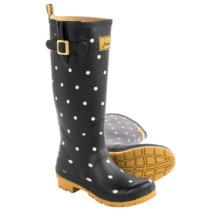 Joules Welly Printed Rain Boots - Waterproof (For Women) in Black Spot - 2nds