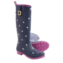 Joules Welly Printed Rain Boots - Waterproof (For Women) in Navy Star - 2nds
