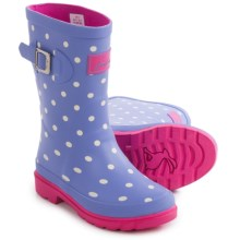 Joules Welly Rain Boots (For Little and Big Girls) in Blue Spots - Closeouts