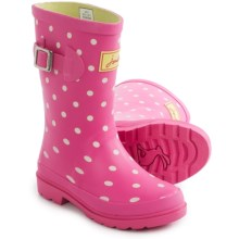 Joules Welly Rain Boots (For Little and Big Girls) in Pink Spots - Closeouts