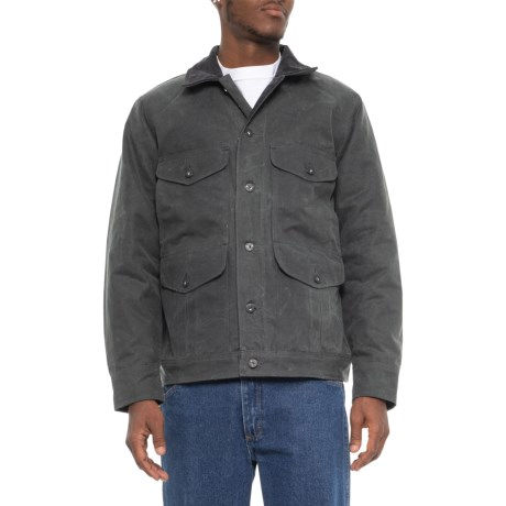 Journeyman Waxed Cotton Jacket - Insulated (For Men) - CHARCOAL (S )