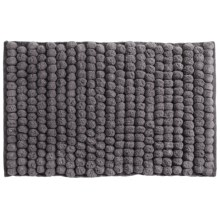 "Jovi Home Axis Cotton Loop Twist Bath Rug - 20x31"" in Charcoal - Closeouts"