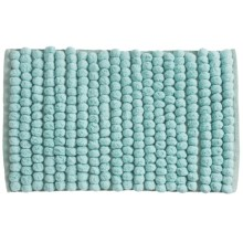 "Jovi Home Axis Cotton Loop Twist Bath Rug - 20x31"" in Duck Egg - Closeouts"