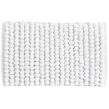 "Jovi Home Axis Cotton Loop Twist Bath Rug - 20x31"" in White - Closeouts"
