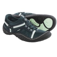 JSport by Jambu Compass Shoes - Vegan Leather (For Women) in Dark Navy/Light Jade - Closeouts