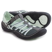 JSport by Jambu Marley Sandals - Vegan Leather (For Women) in Grey/Light Jade - Closeouts