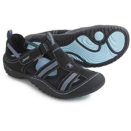 JSport by Jambu Regatta Comfort Sport Sandals (For Women) in Black/Cool Blue - Closeouts