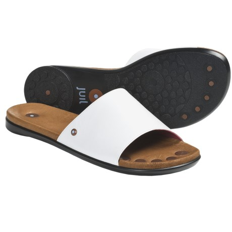 Juil Bali Leather Sandals (For Women) in Pewter
