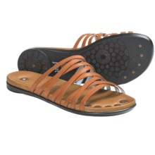Juil Mojanda Leather Sandals (For Women) in Orange - Closeouts