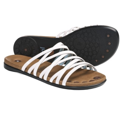 Juil Mojanda Leather Sandals (For Women) in White