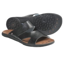 Juil Yuba Slides - Leather (For Men) in Black - Closeouts