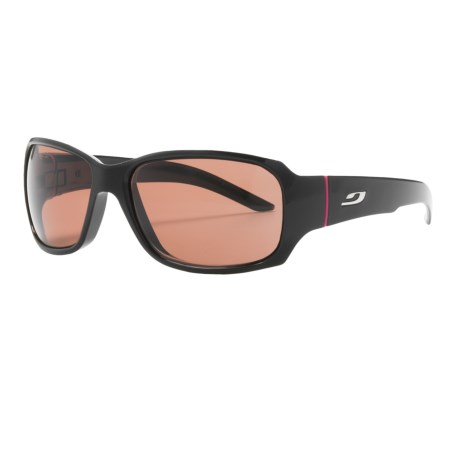 Julbo Alagna Sunglasses - Polarized, Photochromic Falcon Lenses (For Women) in Black/Fushia/Falcon