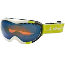Julbo Around Excel Snowsport Goggles in White/Black/Orange/Blue Flash Spectron 3 - Closeouts