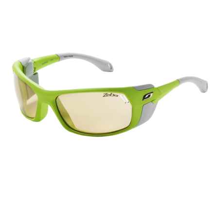 Julbo Bivouak Sunglasses - Photochromic in Matte Apple Green Grey/Zebra - Closeouts