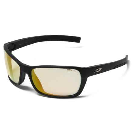 Julbo Blast High-Performance Sunglasses - Zebra Photochromic Lenses in Black/Fire - Closeouts