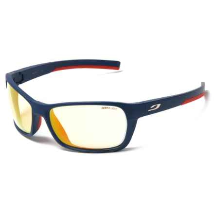 Julbo Blast High-Performance Sunglasses - Zebra Photochromic Lenses in Blue/Red/Fire - Closeouts