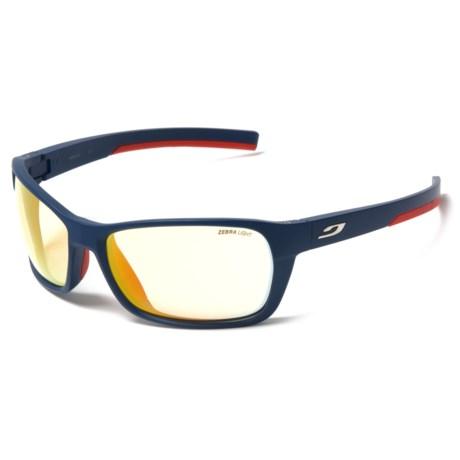 Julbo Blast High-Performance Sunglasses - Zebra Photochromic Lenses in Blue/Red/Fire