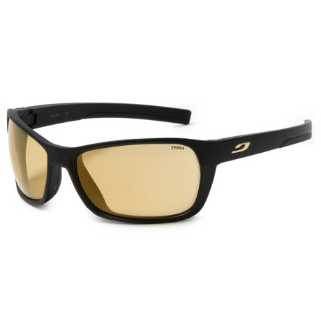 Julbo Blast High-Performance Sunglasses - Zerba Photochromic Lenses in Matte Black/Yellow