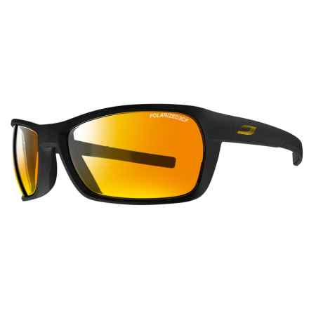 Julbo Blast Sunglasses - Polarized Spectron 3CF Lenses in Matte Black/Black/Gold - Overstock