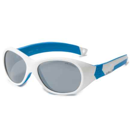 Julbo Bubble Sunglasses (For Kids and Youth) in White/Blue/Spectron 3+ - Closeouts