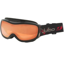 Julbo Cassiopee Snowsport Goggles (For Women) in Black/Red/Orange/Silver Flash Spectron 3 - Closeouts