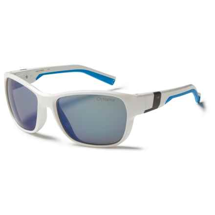 Julbo Coast Sunglasses - Polarized, Photochromic Lenses in Shiny White/Blue Octopus - Closeouts
