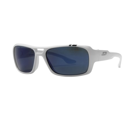 Julbo Dock Sunglasses - Polarized, Spectron 3 Lenses in White/Polarized 3+ Blue Flash