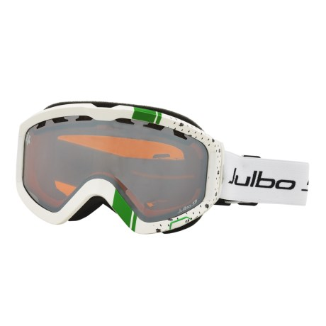 Julbo Down Snowsport Goggles in White/Green/Orange Spectron 3