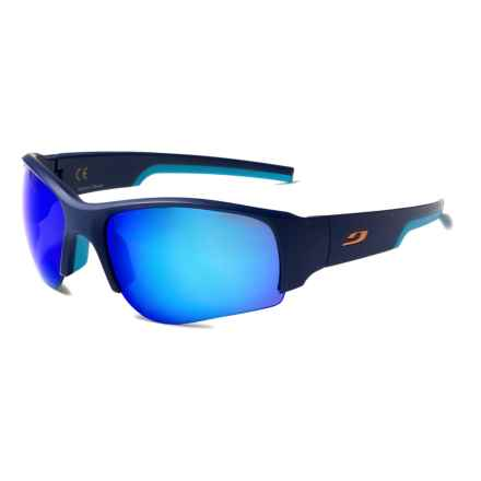 Julbo Dust Sunglasses - Mirrored Spectron 3 Lenses, Asian Fit in Blue-Sky Blue/Spectron 3 Cf Blue - Closeouts