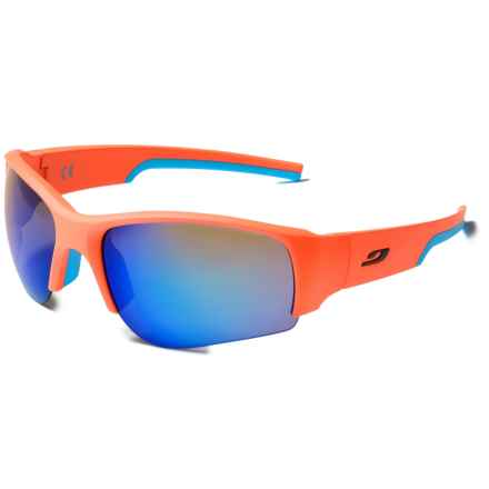 Julbo Dust Sunglasses - Mirrored Spectron 3 Lenses, Asian Fit in Orange Blue/Spectron 3Cf Blue - Closeouts