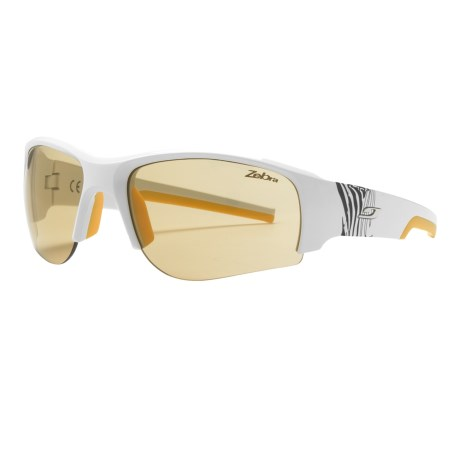 Julbo Dust Sunglasses - Photochromic Zebra® Lenses in White/Zebra