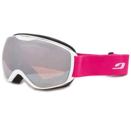 Julbo Ison Ski Goggles in White/Fuschia Flash/Cat 3 - Closeouts