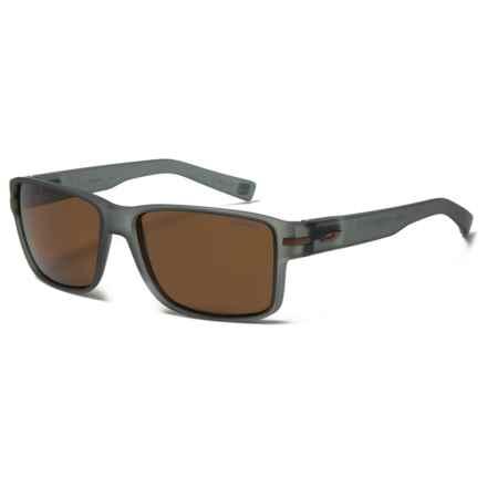 Julbo Kobe Sunglasses - Polarized in Matte Grey Translucide/Amber - Closeouts