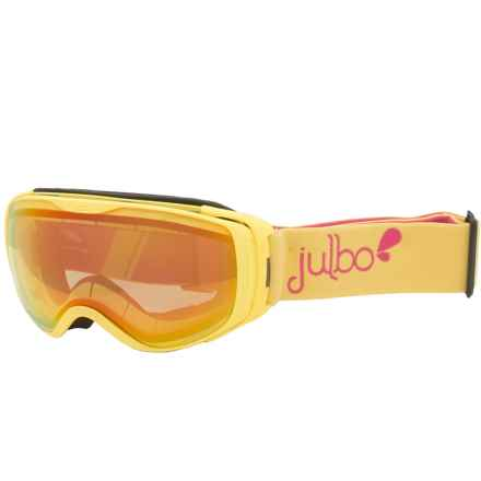Julbo Luna Ski Goggles - Zebra Light Photochromic Lens (For Women) in Yellow/Zebra Light - Closeouts