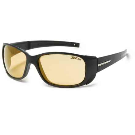 Julbo MonteRosa Sunglasses - Zebra Photochromic Lenses in Black Zebra - Overstock