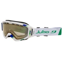 Julbo Orbiter Goggles - Zebra Light Photochromic Lens in White/Blue/Zebra Light - Closeouts