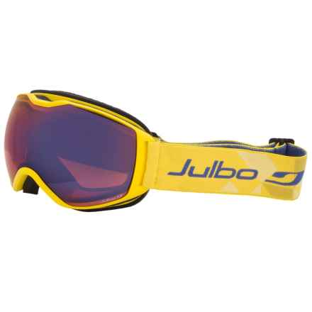 Julbo Quantum Ski Goggles - Cat. 2 in Yellow/Orange/Blue Flash/Cat 3 - Closeouts