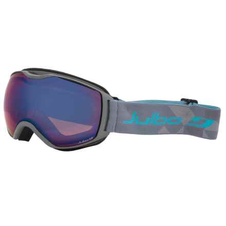 Julbo Quantum Snowsport Goggles - Cat. 2 in Grey/Blue/Orange/Blue Flash/Cat 2 - Closeouts