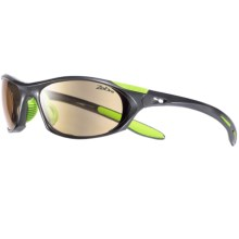 Julbo Race Sunglasses - Photochromic Lenses in Asphalt/Lime/Zebra - Closeouts