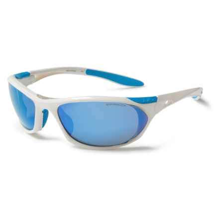 Julbo Race Sunglasses - Spectron 3 Lenses in Shiny White/Spectron 3Cf Multi Blue - Closeouts