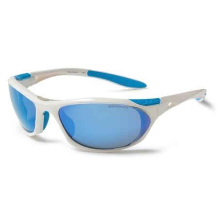 Julbo Race Sunglasses - Spectron 3 Lenses in Shiny White/Spectron 3Cf Multi Blue