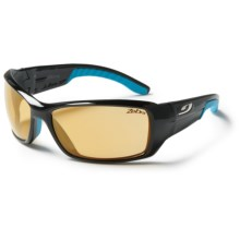 Julbo Run Sunglasses - Photochromic Zebra Lenses in Shiny Black/Zebra - Closeouts