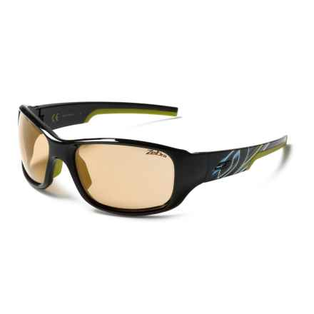 Julbo Stunt Sunglasses - Zebra Photochromic Lenses in Black-Apple Green/Zebra - Closeouts
