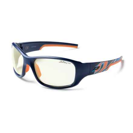 Julbo Stunt Sunglasses - Zebra Photochromic Lenses in Blue-Orange/Zebra Light - Closeouts